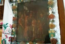 Икона Георгия Победоносца, до закрытия в 1932 году была в храме